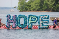 HOPE letters on boat extra close up of letters DB 2016