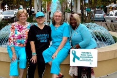 Four ladies by Market Square Fountain in Myrtle Beach 2015